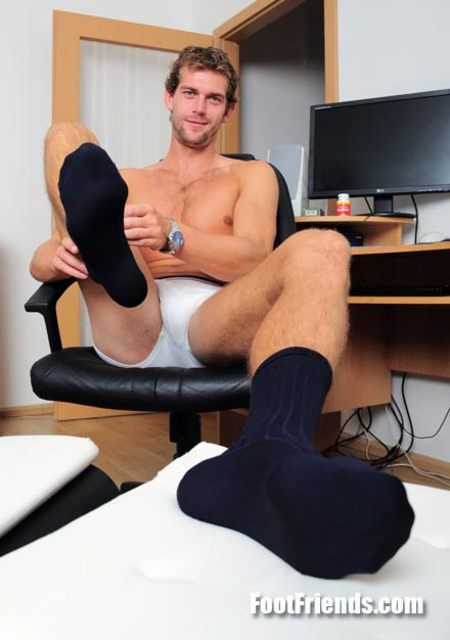 Fetish gay man sock tube